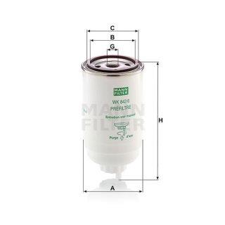 Mann WK842/6 Kraftstofffilter