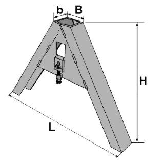 Dreieck zum Anschweißen an die Geräte